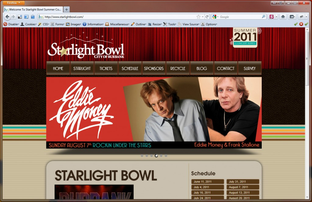 Starlight Bowl Home Page 2011