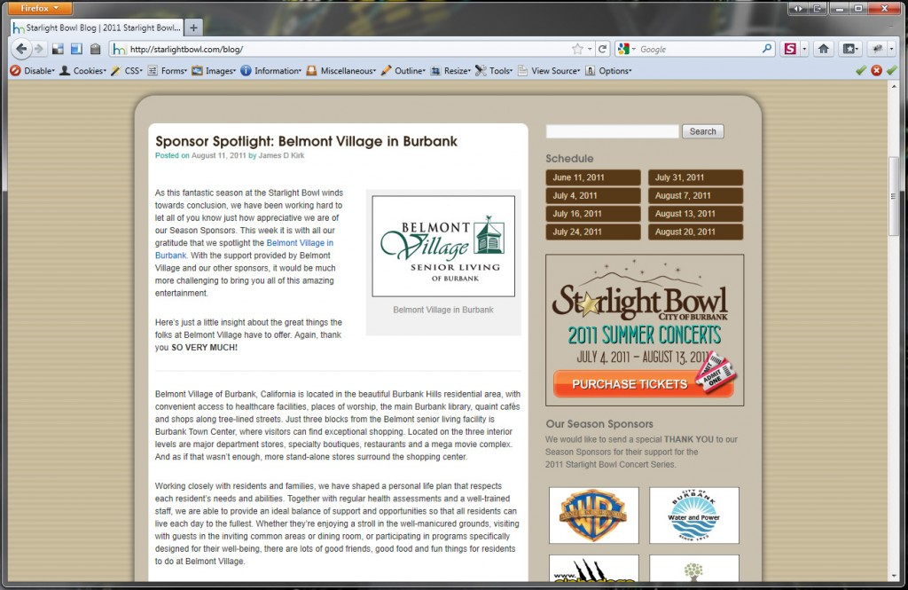 Starlight Bowl Blog Integration