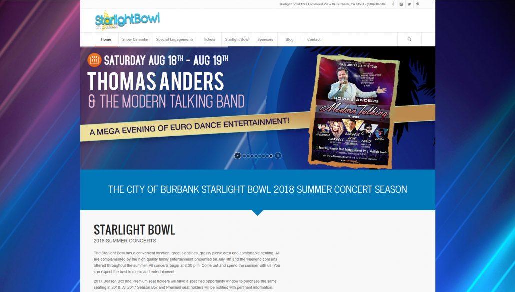 Burbank Starlight Bowl Website